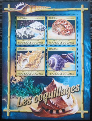 Poštovní známky Guinea 2016 Mušle Mi# 11781-84 Kat 16€