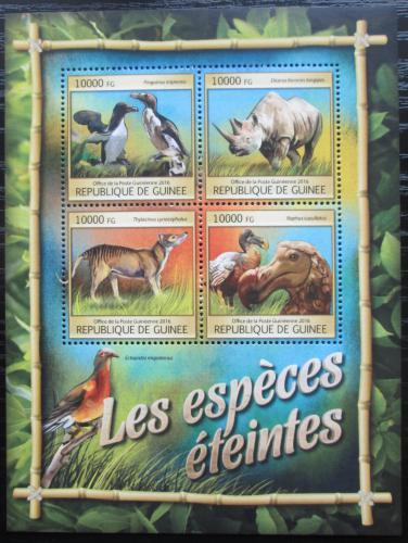 Poštovní známky Guinea 2016 Vyhynulá fauna Mi# 11836-39 Kat 16€