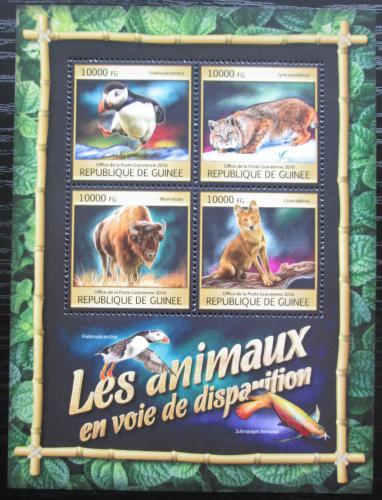 Poštovní známky Guinea 2016 Chránìná fauna Mi# 11841-44 Kat 16€