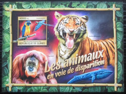 Poštovní známka Guinea 2016 Chránìná fauna Mi# Block 2664 Kat 16€