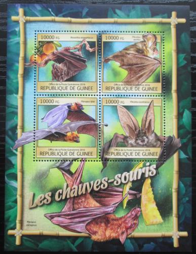Poštovní známky Guinea 2016 Netopýøi Mi# 11846-49 Kat 16€