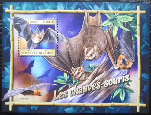 Poštovní známka Guinea 2016 Netopýøi Mi# Block 2665 Kat 16€