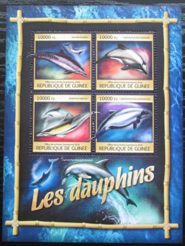 Poštovní známky Guinea 2016 Delfíni Mi# 11856-59 Kat 16€
