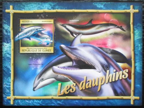 Poštovní známka Guinea 2016 Delfíni Mi# Block 2667 Kat 16€
