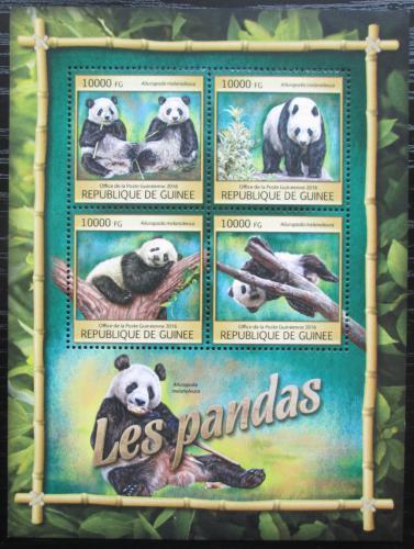 Poštovní známky Guinea 2016 Pandy Mi# 11861-64 Kat 16€