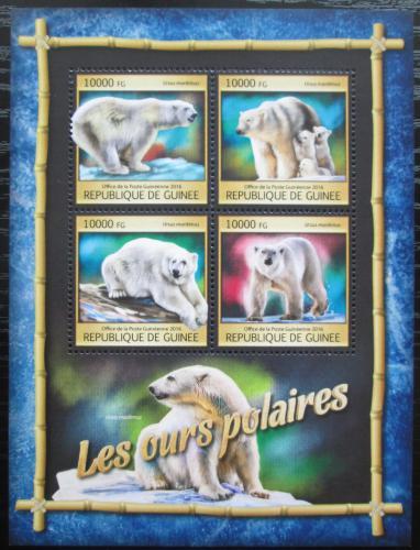 Poštovní známky Guinea 2016 Lední medvìd Mi# 11866-69 Kat 16€