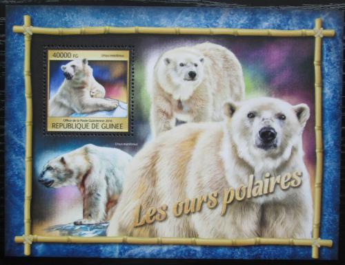 Poštovní známka Guinea 2016 Lední medvìd Mi# Block 2669 Kat 16€