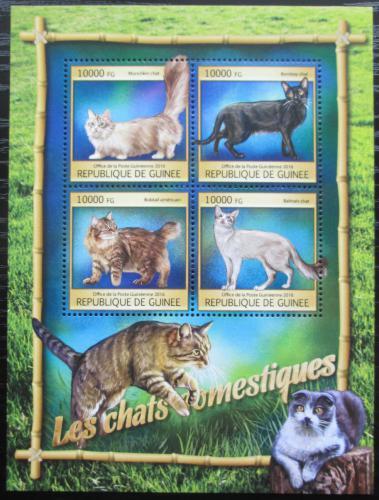 Poštovní známky Guinea 2016 Koèky Mi# 11881-84 Kat 16€