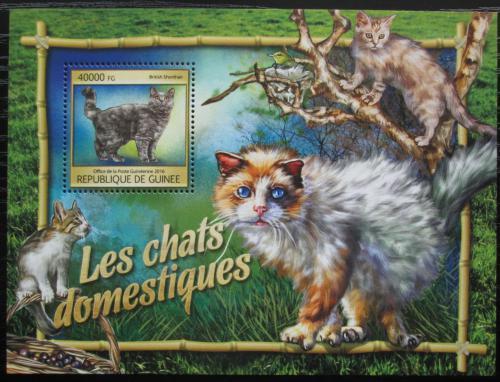 Poštovní známka Guinea 2016 Koèky Mi# Block 2672 Kat 16€