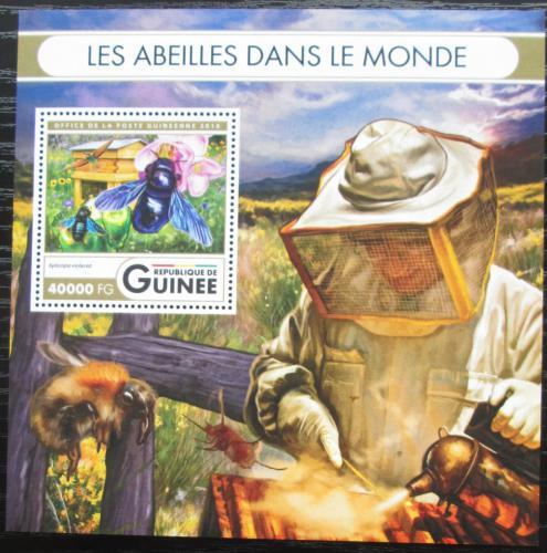 Poštovní známka Guinea 2016 Vèely Mi# Block 2682 Kat 16€