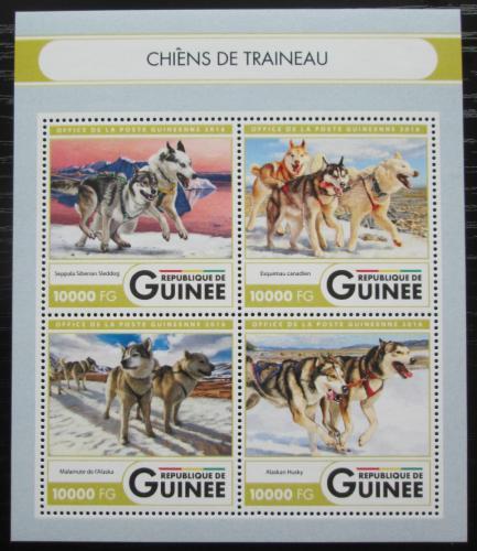 Poštovní známky Guinea 2016 Tažní psi Mi# 11946-49 Kat 16€