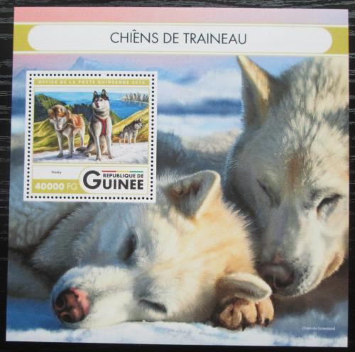 Poštovní známka Guinea 2016 Tažní psi Mi# Block 2685 Kat 16€