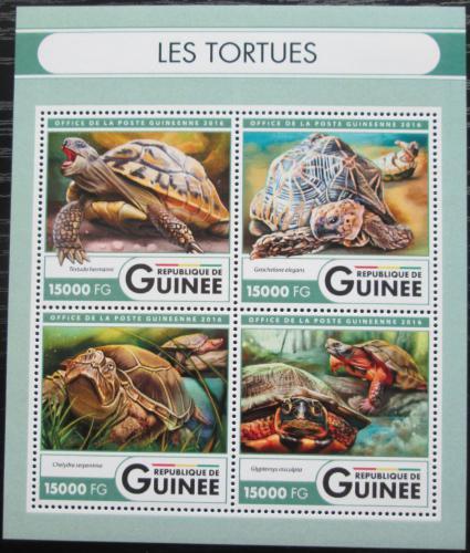 Poštovní známky Guinea 2016 Želvy Mi# 12036-39 Kat 24€