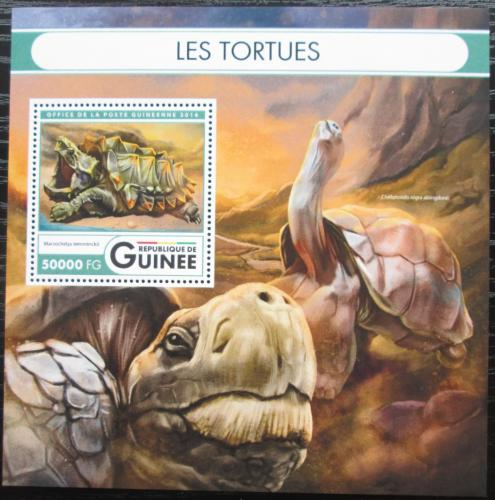 Poštovní známka Guinea 2016 Želvy Mi# Block 2703 Kat 20€