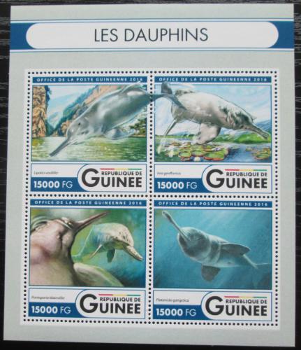 Poštovní známky Guinea 2016 Delfíni Mi# 12056-59 Kat 24€