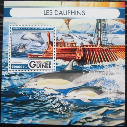 Poštovní známka Guinea 2016 Delfíni Mi# Block 2707 Kat 20€