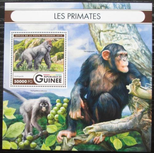 Poštovní známka Guinea 2016 Opice Mi# Block 2710 Kat 20€