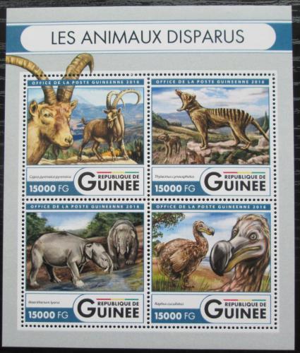 Poštovní známky Guinea 2016 Vyhynulá fauna Mi# 12051-54 Kat 24€