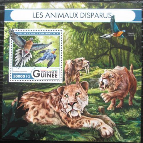 Poštovní známka Guinea 2016 Vyhynulá fauna Mi# Block 2706 Kat 20€