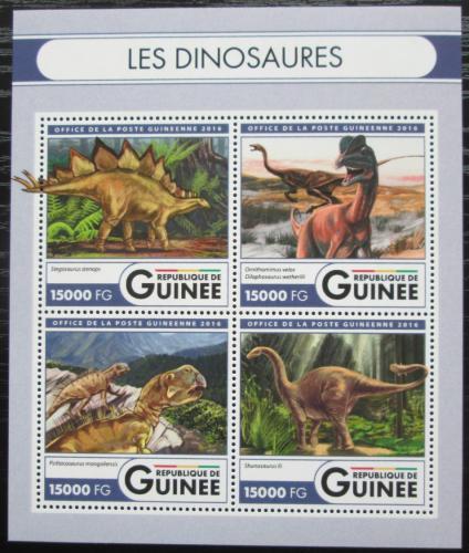 Poštovní známky Guinea 2016 Dinosauøi Mi# 12031-34 Kat 24€