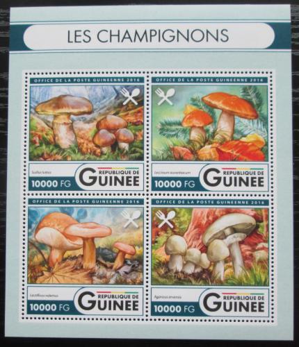 Poštovní známky Guinea 2016 Houby Mi# 11916-19 Kat 16€