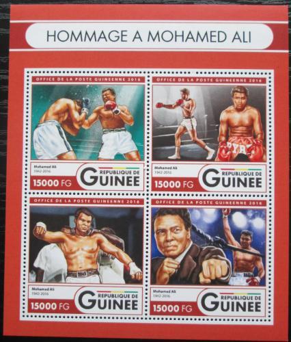 Poštovní známky Guinea 2016 Muhammad Ali, box Mi# 12126-29 Kat 24€