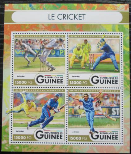 Poštovní známky Guinea 2016 Kriket Mi# 12116-19 Kat 24€