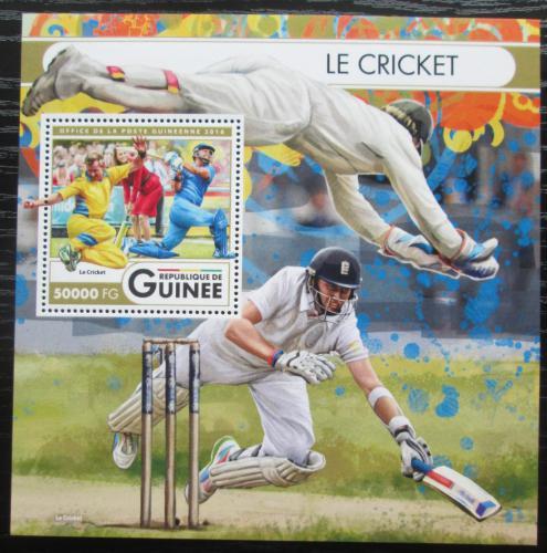 Poštovní známka Guinea 2016 Kriket Mi# Block 2719 Kat 20€
