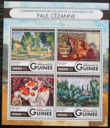 Poštovní známky Guinea 2016 Umìní, Paul Cézanne Mi# 11986-89 Kat 16€