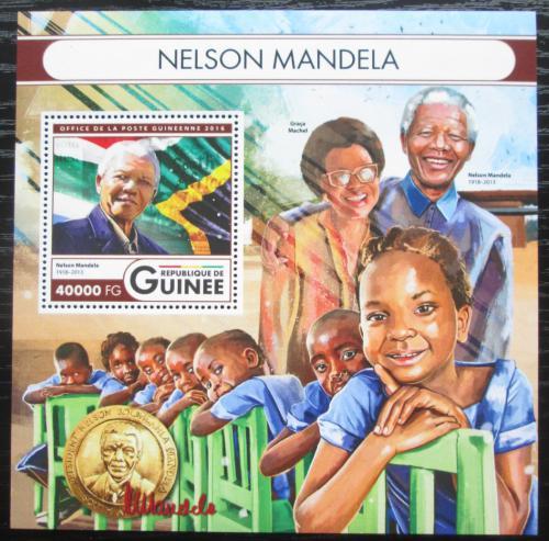 Poštovní známka Guinea 2016 Nelson Mandela Mi# Block 2698 Kat 16€