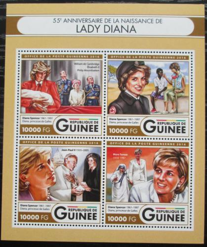Poštovní známky Guinea 2016 Princezna Diana Mi# 12016-19 Kat 16€