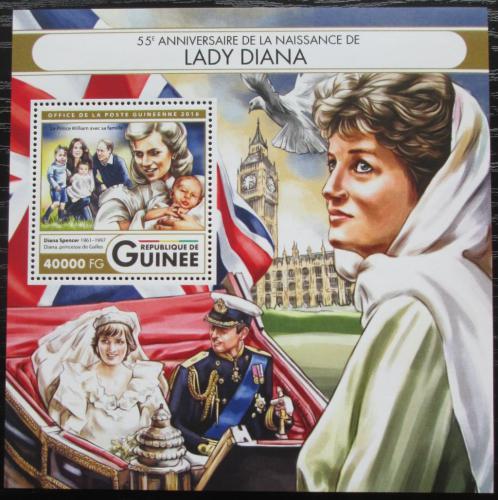 Poštovní známka Guinea 2016 Princezna Diana Mi# Block 2699 Kat 16€