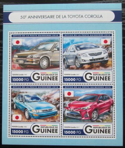 Poštovní známky Guinea 2016 Automobily Toyota Mi# 12101-04 Kat 24€