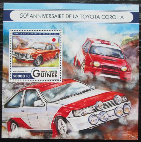 Poštovní známka Guinea 2016 Automobily Toyota Mi# Block 2716 Kat 20€