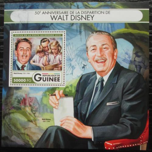 Poštovní známka Guinea 2016 Walt Disney Mi# Block 2720 Kat 20€