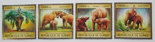 Poštovní známky Guinea 2016 Sloni Mi# 11851-54 Kat 16€
