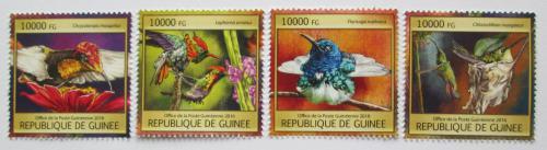 Poštovní známky Guinea 2016 Kolibøíci Mi# 11821-24 Kat 16€