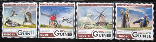 Poštovní známky Guinea 2016 Vìtrné mlýny a ptáci Mi# 12046-49 Kat 24€