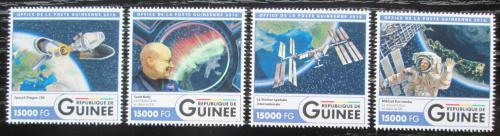 Poštovní známky Guinea 2016 Mezinárodní vesmírná stanice Mi# 12106-09 Kat 24€