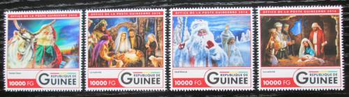 Poštovní známky Guinea 2016 Vánoce Mi# 12026-29 Kat 16€