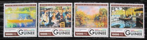 Poštovní známky Guinea 2016 Umìní, Pierre-Auguste Renoir Mi# 11981-84 Kat 16€