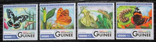Poštovní známky Guinea 2016 Motýli Mi# 11926-29 Kat 16€