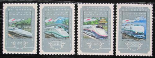 Poštovní známky Guinea 2014 Moderní lokomotivy Mi# 10897-10900 Kat 20€