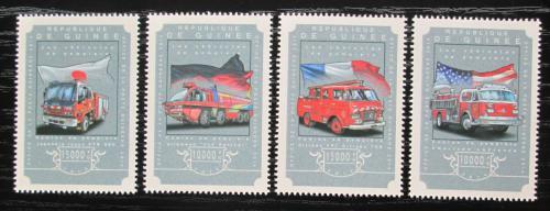 Poštovní známky Guinea 2014 Hasièská auta Mi# 10892-95 Kat 20€