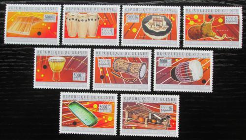 Poštovní známky Guinea 2010 Africké hudební nástroje Mi# 7289-97 Kat 18€