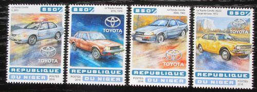 Poštovní známky Niger 2016 Toyota Corolla Mi# 4672-75 Kat 13€