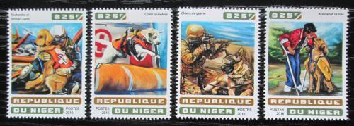Poštovní známky Niger 2016 Služební psi Mi# 4622-25 Kat 13€