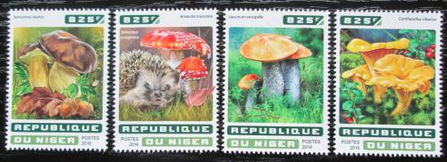 Poštovní známky Niger 2016 Houby Mi# 4597-4600 Kat 13€