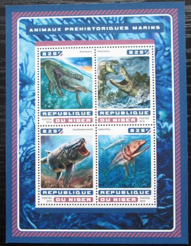 Poštovní známky Niger 2016 Moøští dinosauøi Mi# 4602-05 Kat 13€