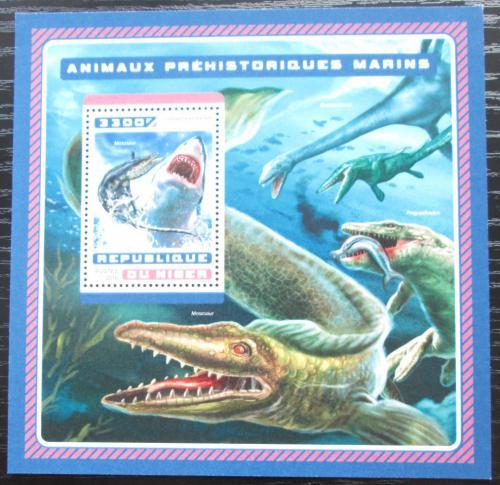Poštovní známka Niger 2016 Moøští dinosauøi Mi# Block 625 Kat 13€